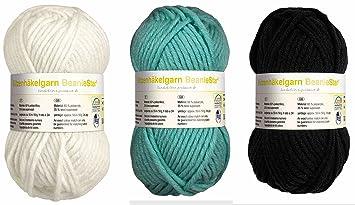 150 Gramm Woll Mix Strickgarn Häkelgarn Mützenwolle Mütze Beanie