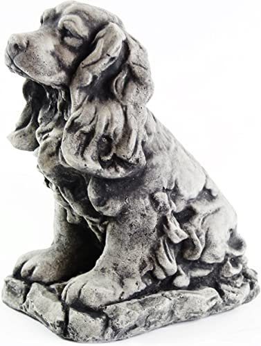 Cocker Spaniel Dog Sculpture Garden Statue Puppy Outdoor Cement Dog Figure Doggy Figurine