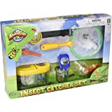 Fun Outdoor Toy Insect Bug Adventure Set; Bug Catcher Set For Kids Backyard Exploration Kit - Bug Collection Kit - Includes Butterfly Net, Compass, Tweezers, Transfer Capsule and Bug Carrier