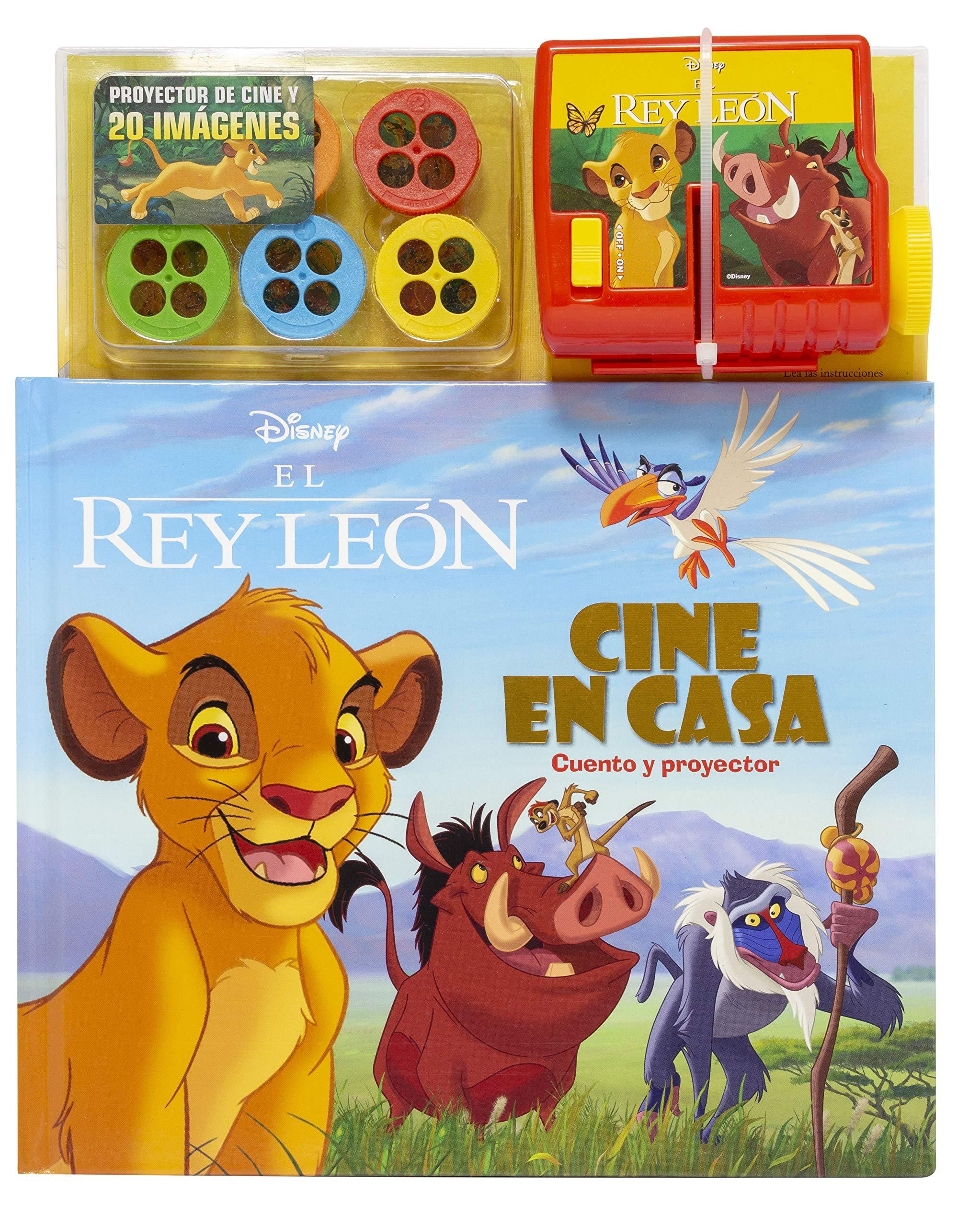 El Rey León. Cine en casa: Cuento y proyector Disney. El Rey León ...