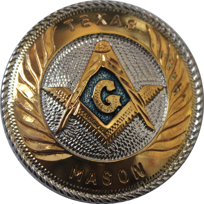"""1/"""" TX Mason Concho Masonic Lodge Leathercraft Jewelry Accessory Freemason Gift"""