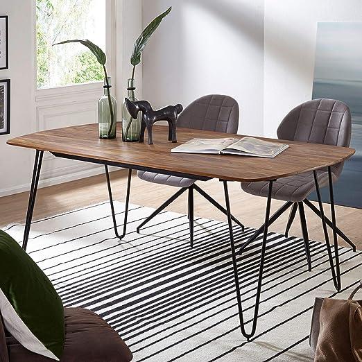 Mesa de Comedor de diseño de Madera Maciza de 120x60x76 cm ...