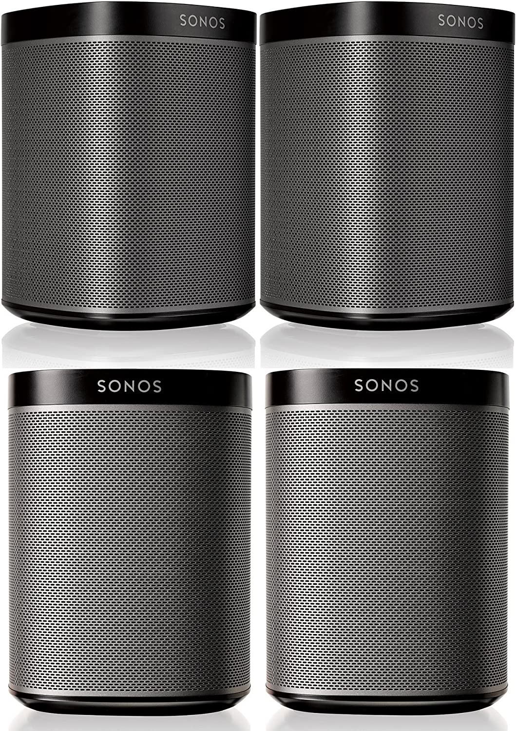 Sonos Play:1 Multi-Room Digital Music System Bundle (4 - Play:1 Speakers) - Black