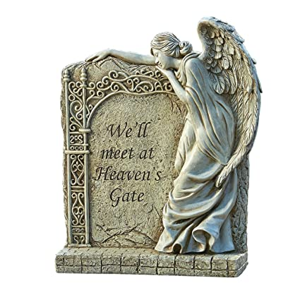Lovely Roman Exclusive Angel Memorial Garden Statue With Verse U0026quot;Weu0027ll Meet At  Heavenu0027s