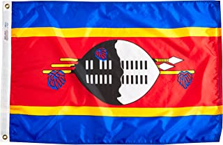 product image for Annin Flagmakers Model 197911 Swaziland Flag Nylon SolarGuard NYL-Glo, 2x3 ft, 100% Made in USA to Official United Nations Design Specifications