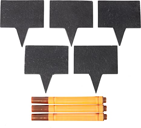 Cheese Lables And Markers Set 5 Chalkboard Labels Made Of Natural Slate And 3 Soapstone Chalk Markers Perfect For Parties And Dinners Great Gift Idea Amazon Ca Home Kitchen