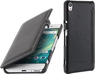 StilGut Book Type Case con Clip, custodia di pelle per Sony Xperia XA