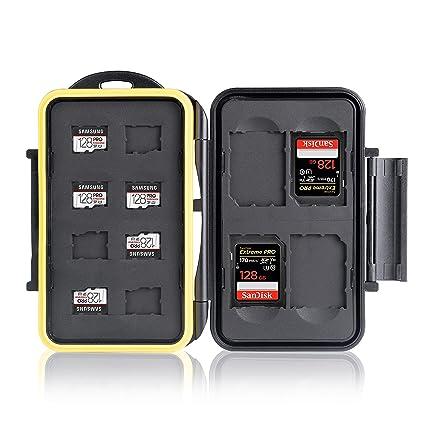 Ares Foto® MC-SDMSD12 Caja de protección para tarjetas de memoria ...