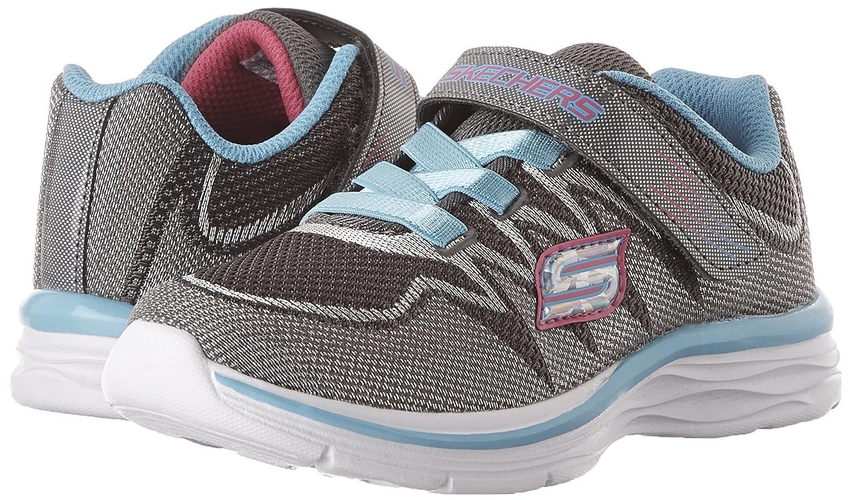Skechers Kids Girls Dream N' Dash Whimsy Girl Velcro Strap Sneaker B01FU2CKAK 1 M US Little Kid Charcoal/Turquoise