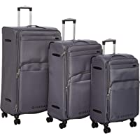 Giordano Luggage Trolley Bags Set 4 Pcs With 4 Wheel Grey - 18001