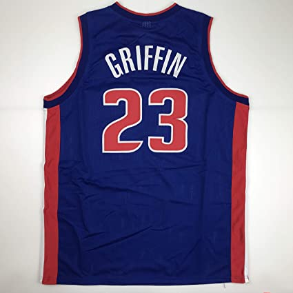 huge discount 6724a 921bb Unsigned Blake Griffin Detroit Blue Custom Stitched ...