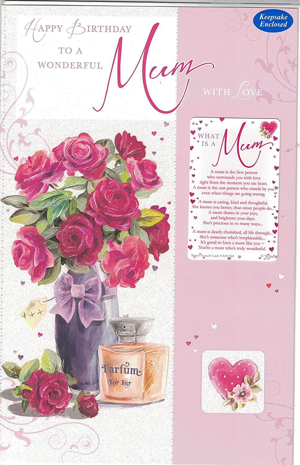 OPEN BIRTHDAY EXTRA LARGE CARD WITH LOVELY VERSES 8 PAGE INSERT