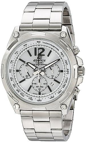Casio Men's EFR 545BD 7BVCF Edifice Tough Solar Stainless Steel Watch