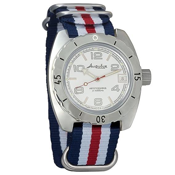 Vostok 150434 - Reloj de pulsera automático para hombre, diseño de anfibio militar