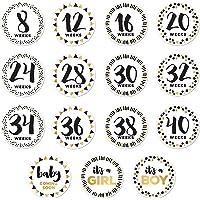 Pearhead Baby Bump Stickers, Weekly Milestone Pregnancy Sticker Photo Props
