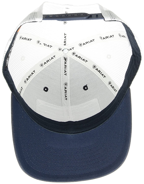 size 40 c15a2 68bec Ariat Men s Shield Flag Center Patch Mesh Cap, Blue, One Size at Amazon  Men s Clothing store