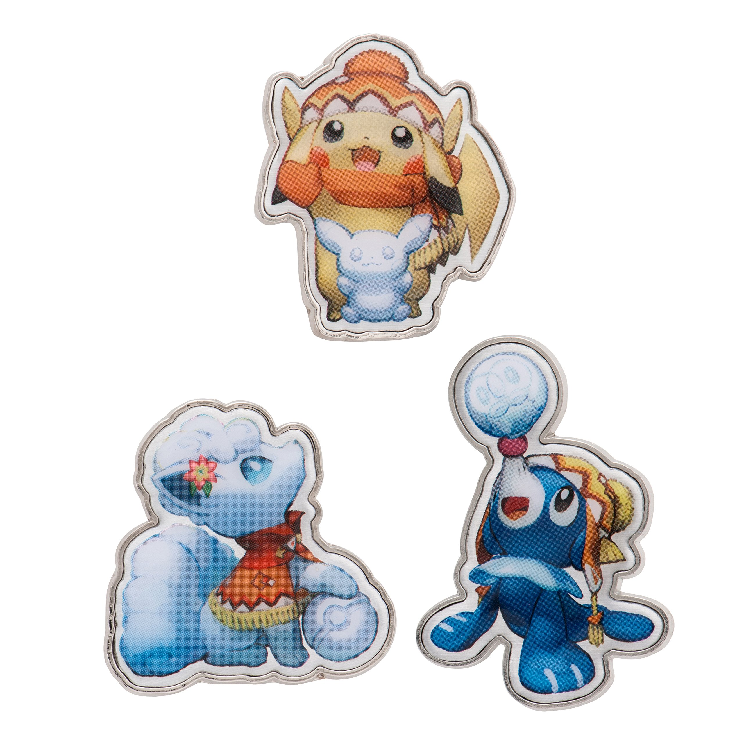 Pokemon Center Original Pins Set Badges Pikachu Arora Vulpix Popplio /Pokemon Center Sapporo Limited Edition Japan by Pokemon (Image #1)