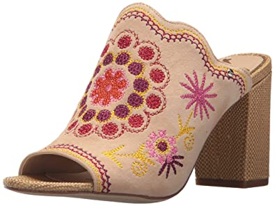 500616168ced8 Sam Edelman Women s Olive Heeled Sandal Natural Naked Yellow Multi  Embroidery 6 ...