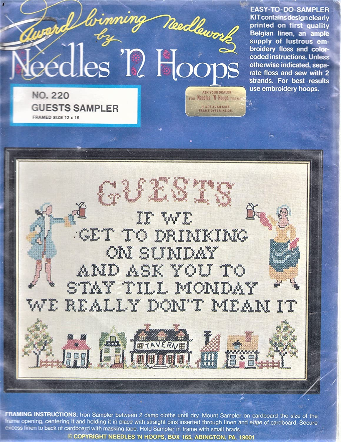 Amazon.com: Guests Sampler Cross Stitch Kit - Finished 12\