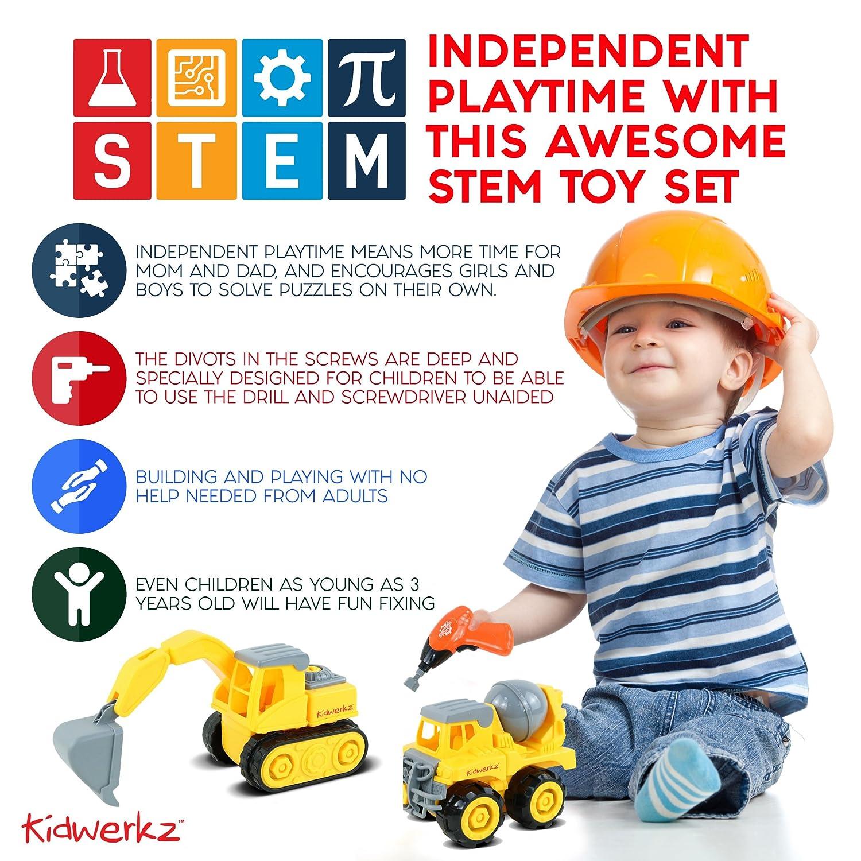 Amazon Kidwerkz Construction Vehicle STEM Learning Set 68