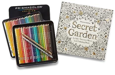 Prismacolor Premier Colored Pencils Soft Core 48 Pack And Adult Coloring Book Secret