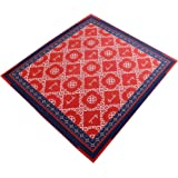 Aucuda Drum Rug Drum Mat Drum Carpet,Tightly Woven Fabric with Non-Slip Grip Bottom,6ftX6.6ft,Starry Sky Red,Great Gift…