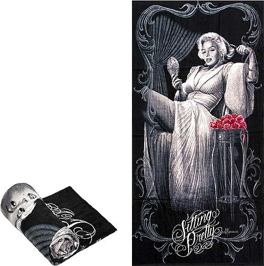 Marilyn Monroe Zombie Bombshell Sherpa Blanket Throw Very Soft NEW Make Offer