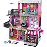 KidKraft Brooklyn's Loft Wooden Dollhouse with 25-Piece Accessory Set, Lights and Sounds, Gift for Ages 3+