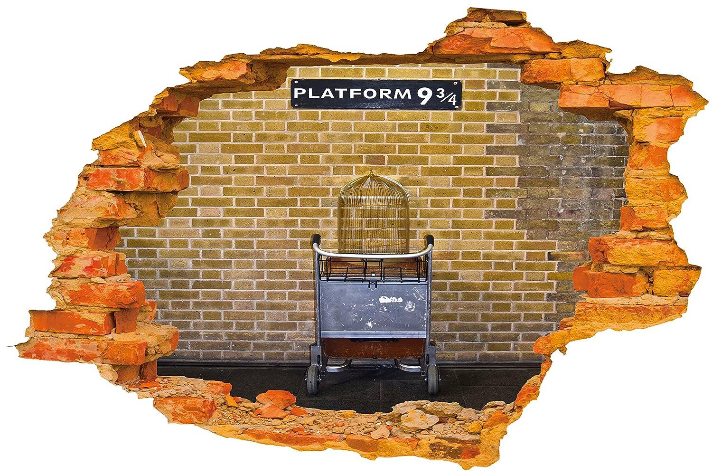 Sticker mural plate forme harry potter mur brisé trou