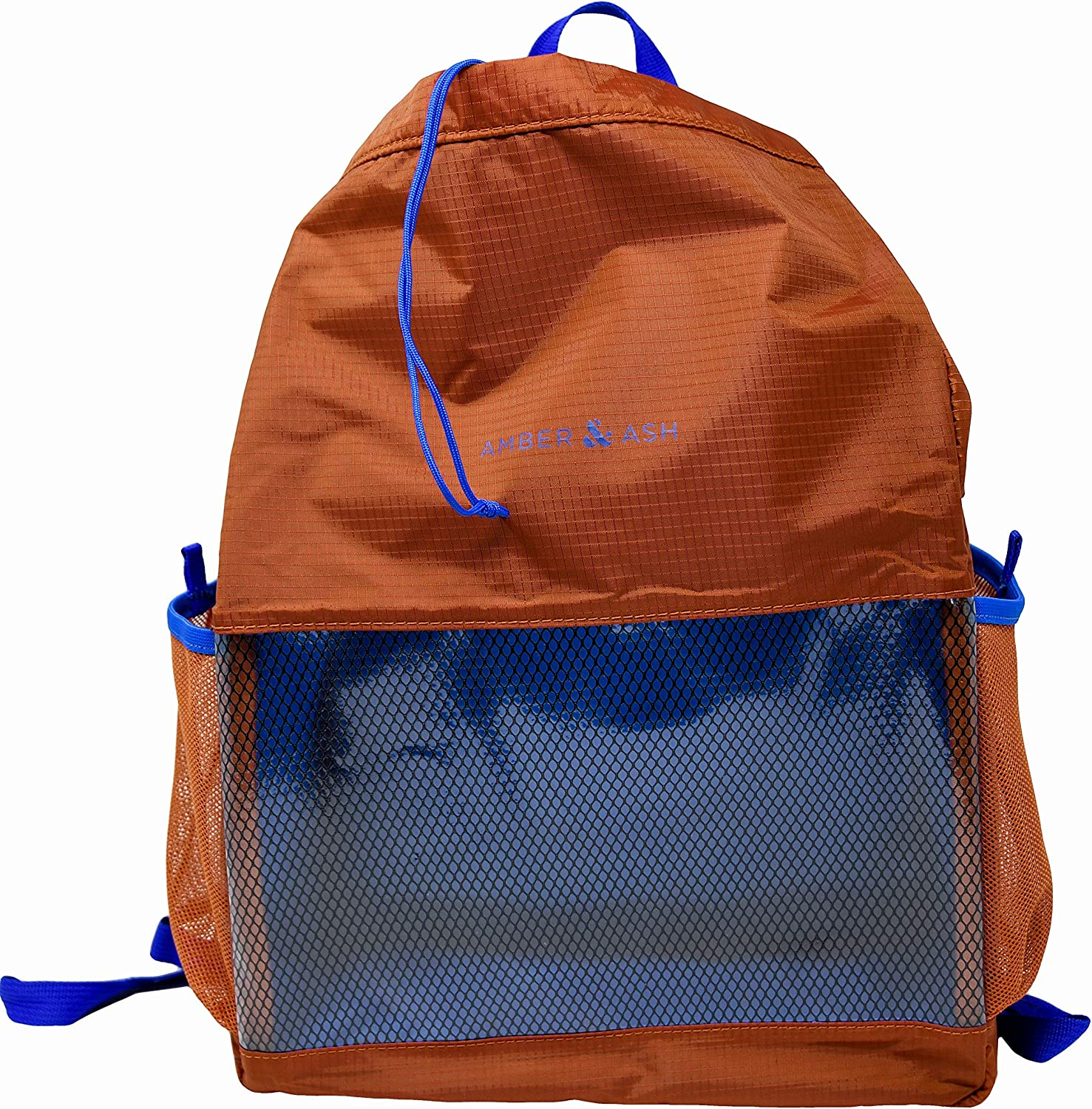 Amber & Ash Drawstring Backpack - Foldable, Water-Resistant, Durable