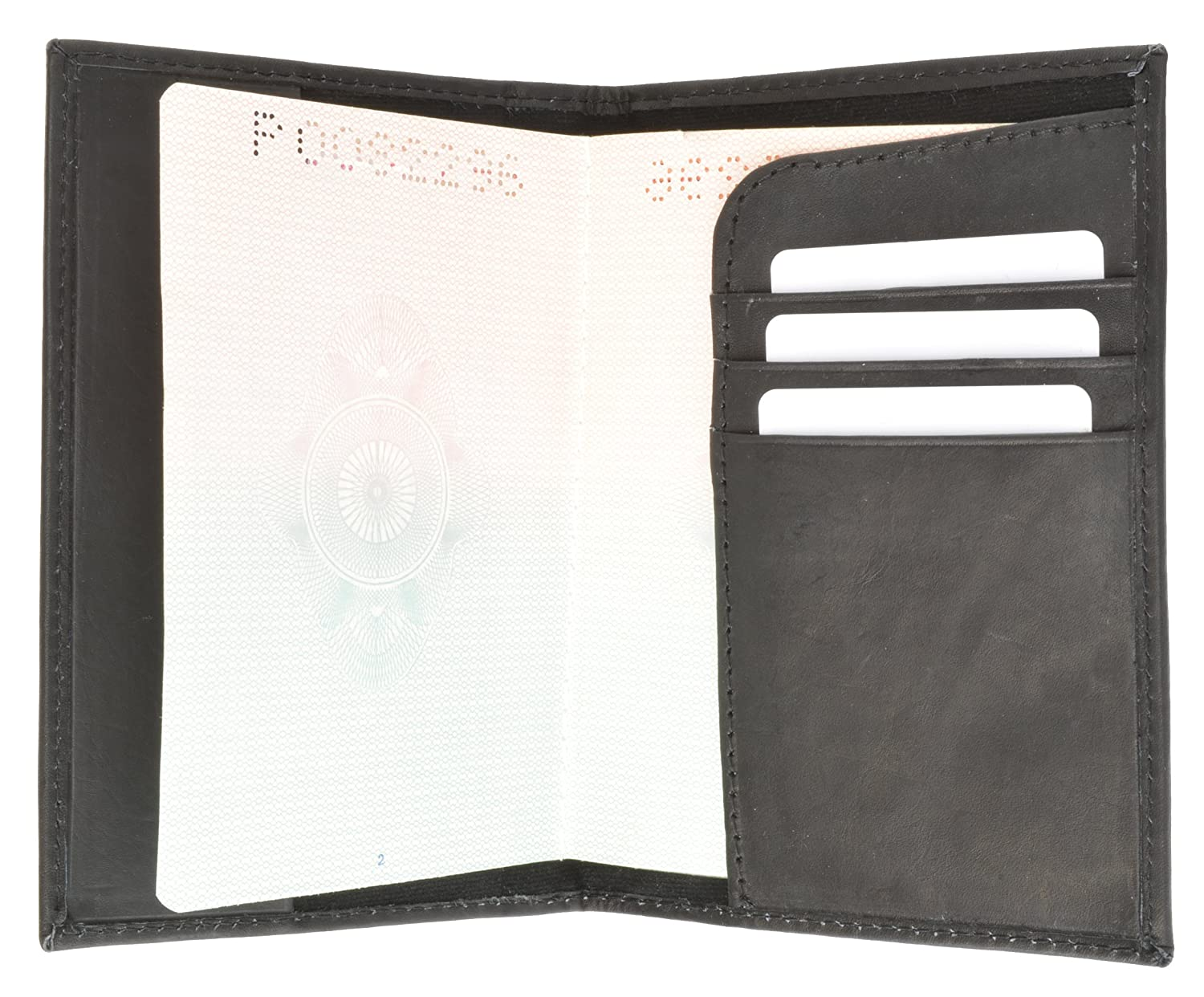 601 USA Gold Genuine Leather Passport Cover for Travel with Credit Card Slots By Marshal