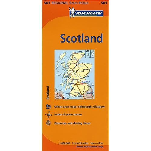Scotland Michelin Great Britain Ecosse  Map 501 Grande Bretagne