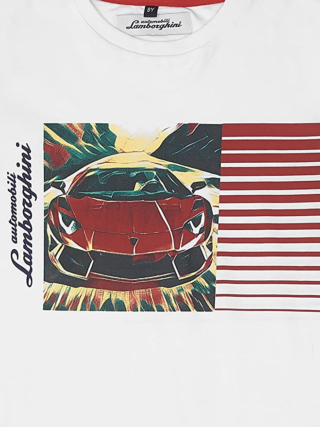 Amazon.com: Automobili Lamborghini Juniors Lamborghini Aventador T Shirt  Kids: Clothing
