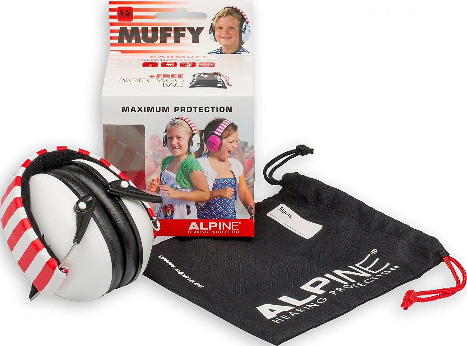 Pink, Alpine Hearing Protection Alpine Muffy Muffs Ear Protectors for Kids AMS PNK