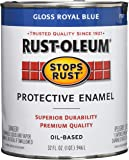 Rust-Oleum 7727502 Stops Rust, 32 oz. Quart, Gloss Royal Blue