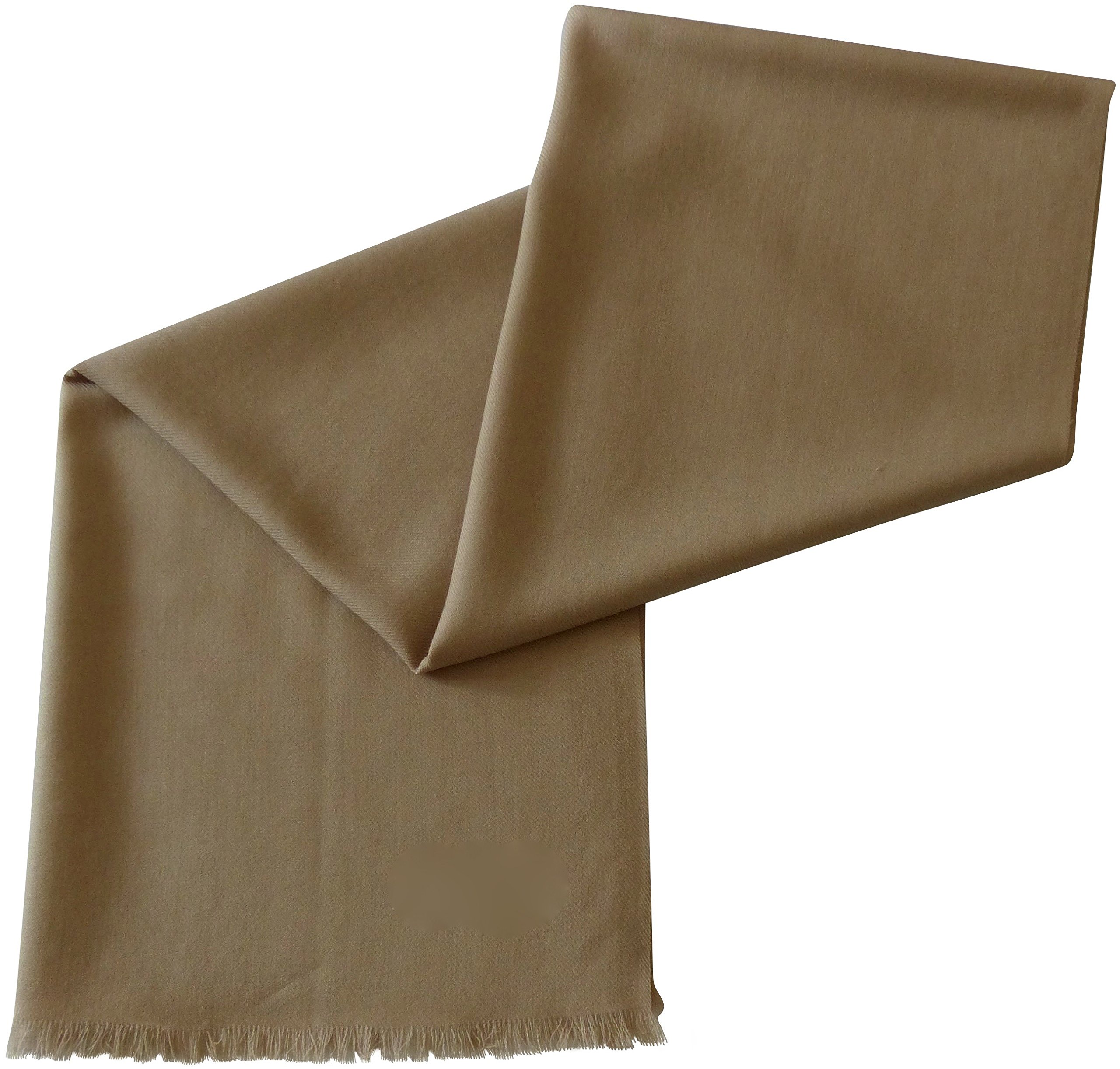 Beige Solid Color Design 100% Wool 2 Ply Shawl Scarf Wrap Pashmina CJ Apparel NEW