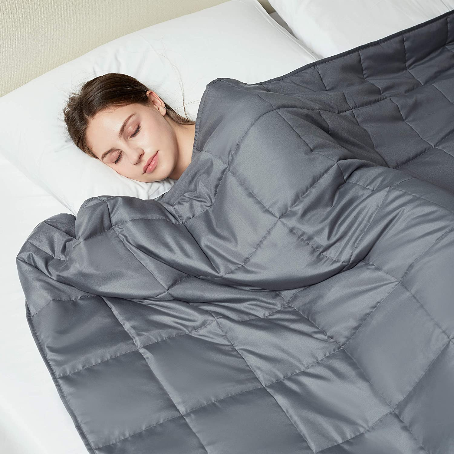 L LOVSOUL Weighted Blanket—with Premium 6 Glass Beads 2021 autumn and winter NEW before selling new Grey Dark