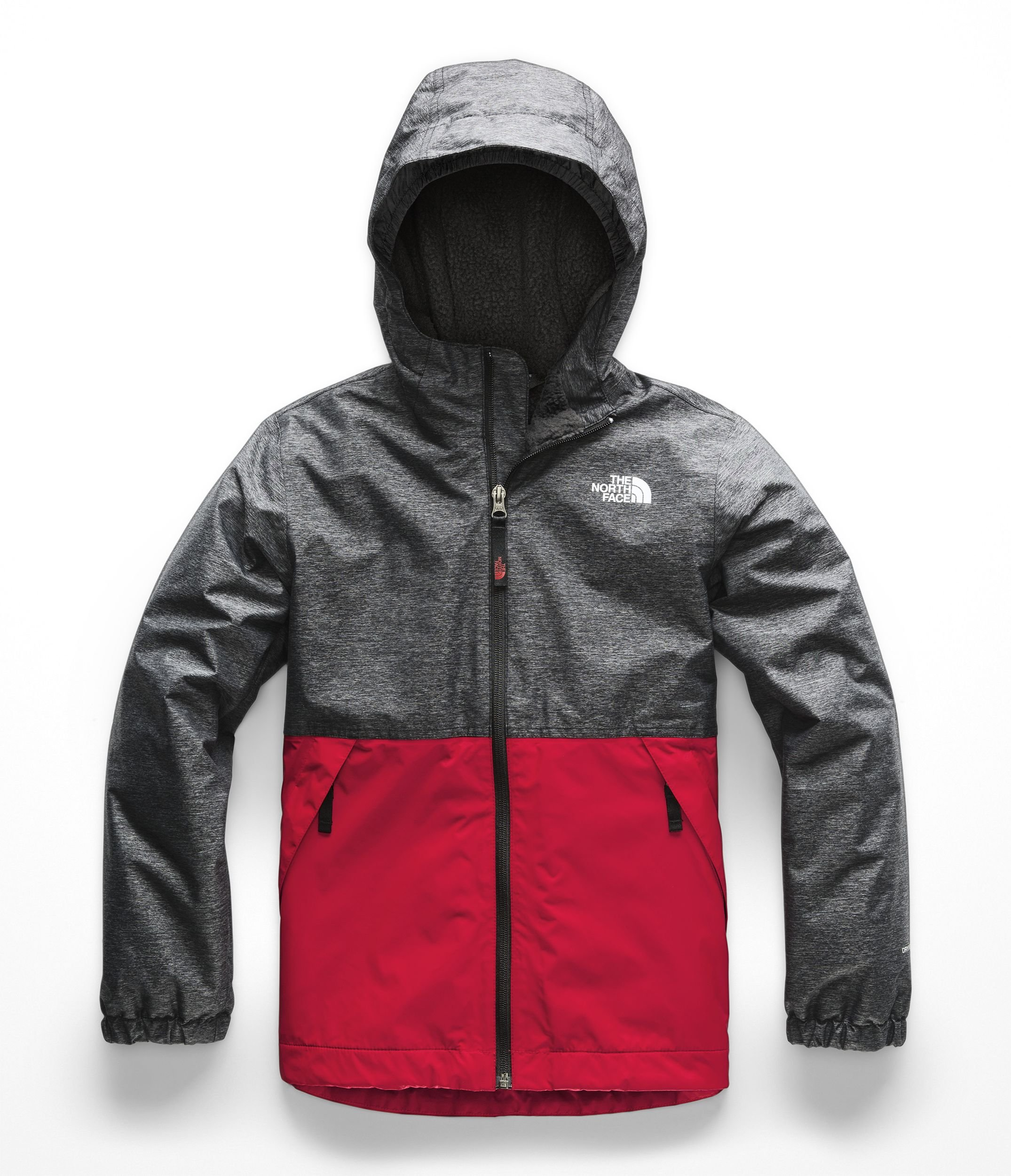 The North Face Boy's Warm Storm Jacket - TNF Black Heather - S