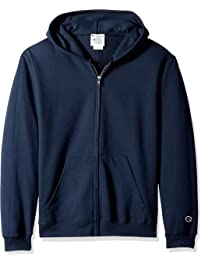 free shipping e15ac a0ad5 Champion Boys Double Dry Fleece Full Zip Hooded Sweatshirt