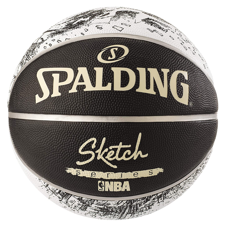 Spaldingスケッチサイズ7ブラック印刷バスケットボール B071P6XJV5