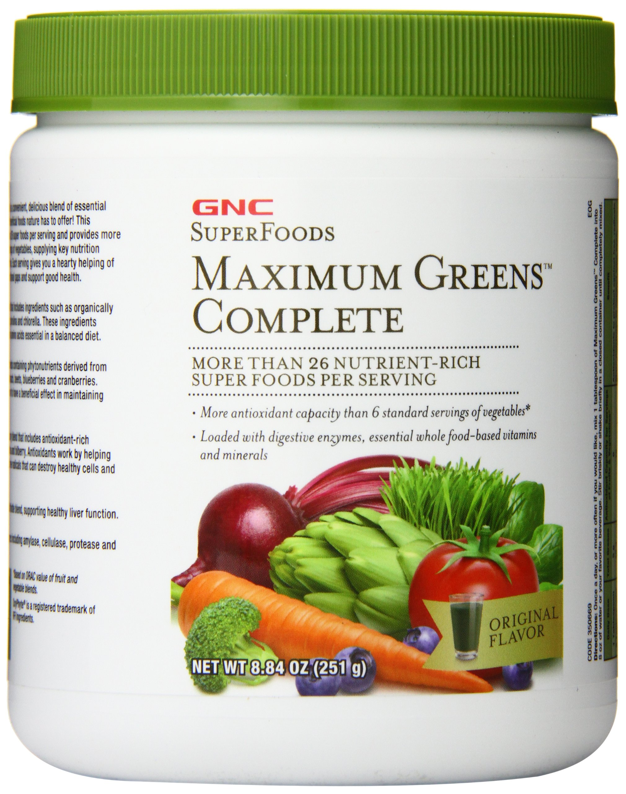 GNC Maximum Greens Complete Powder, 251 Gram