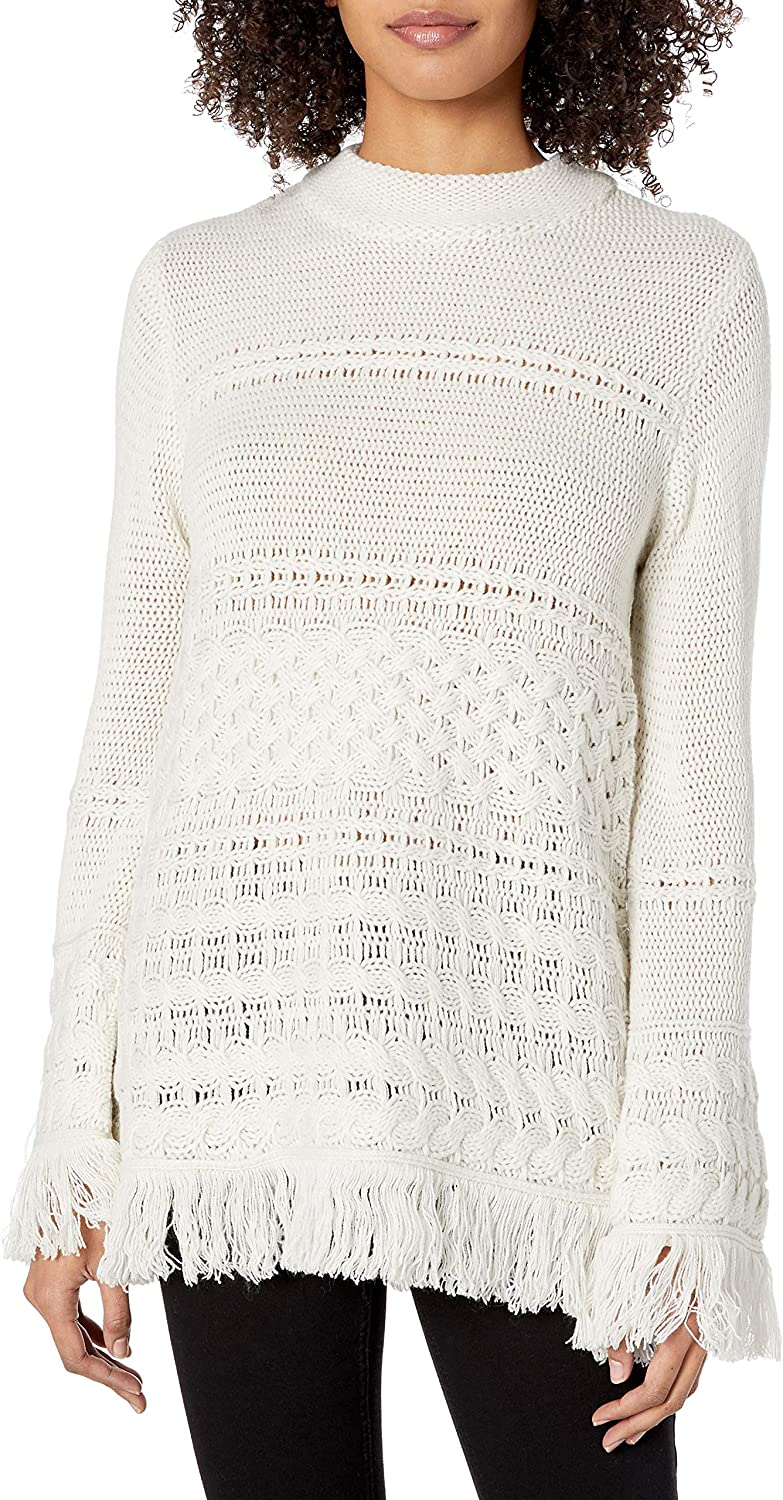 BB Special sale item DAKOTA Women's Heart cheap Over Sweater Fringe Head Knit Cable