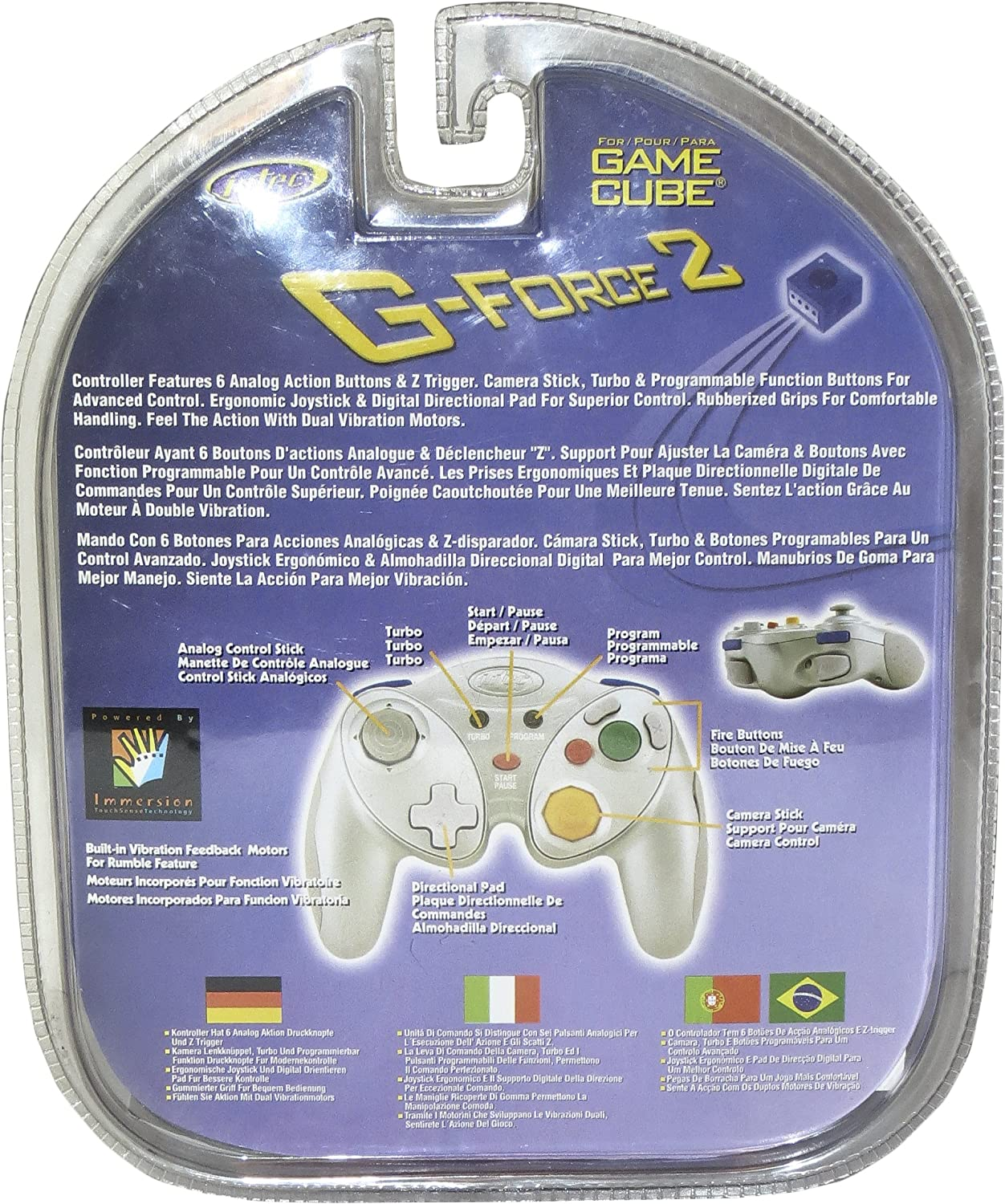 Amazon.com: GameCube 2K Gforce Controller - Indigo: Artist Not Provided: Video Games