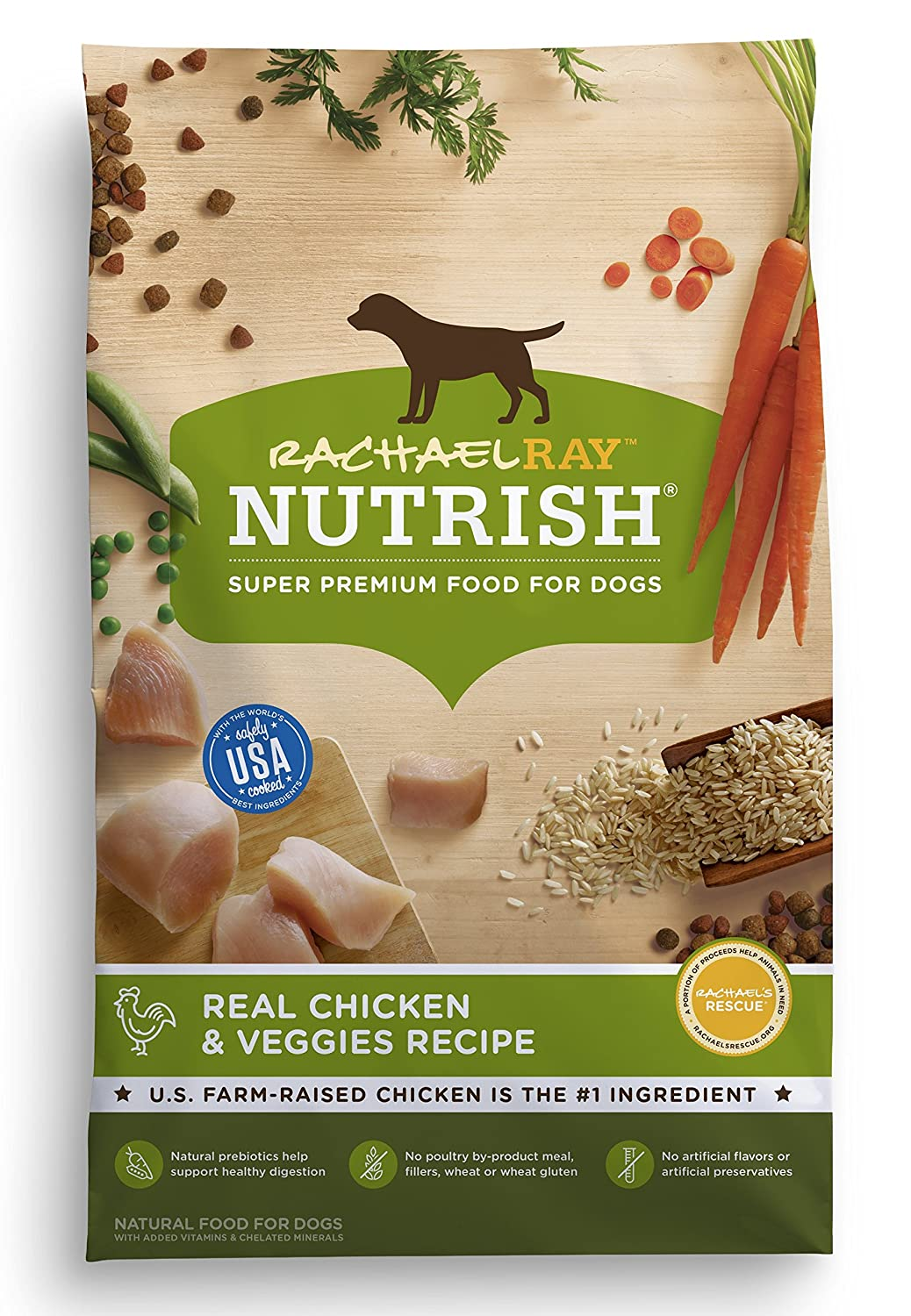 Rachael Ray Nutrish Natural Dry Dog Food, Real Chicken & Veggies Recipe by Rachael Ray Nutrish