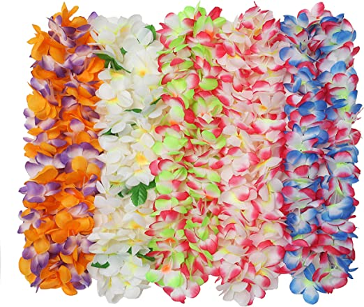 Hawaiian White Flower Lei Hula Garland