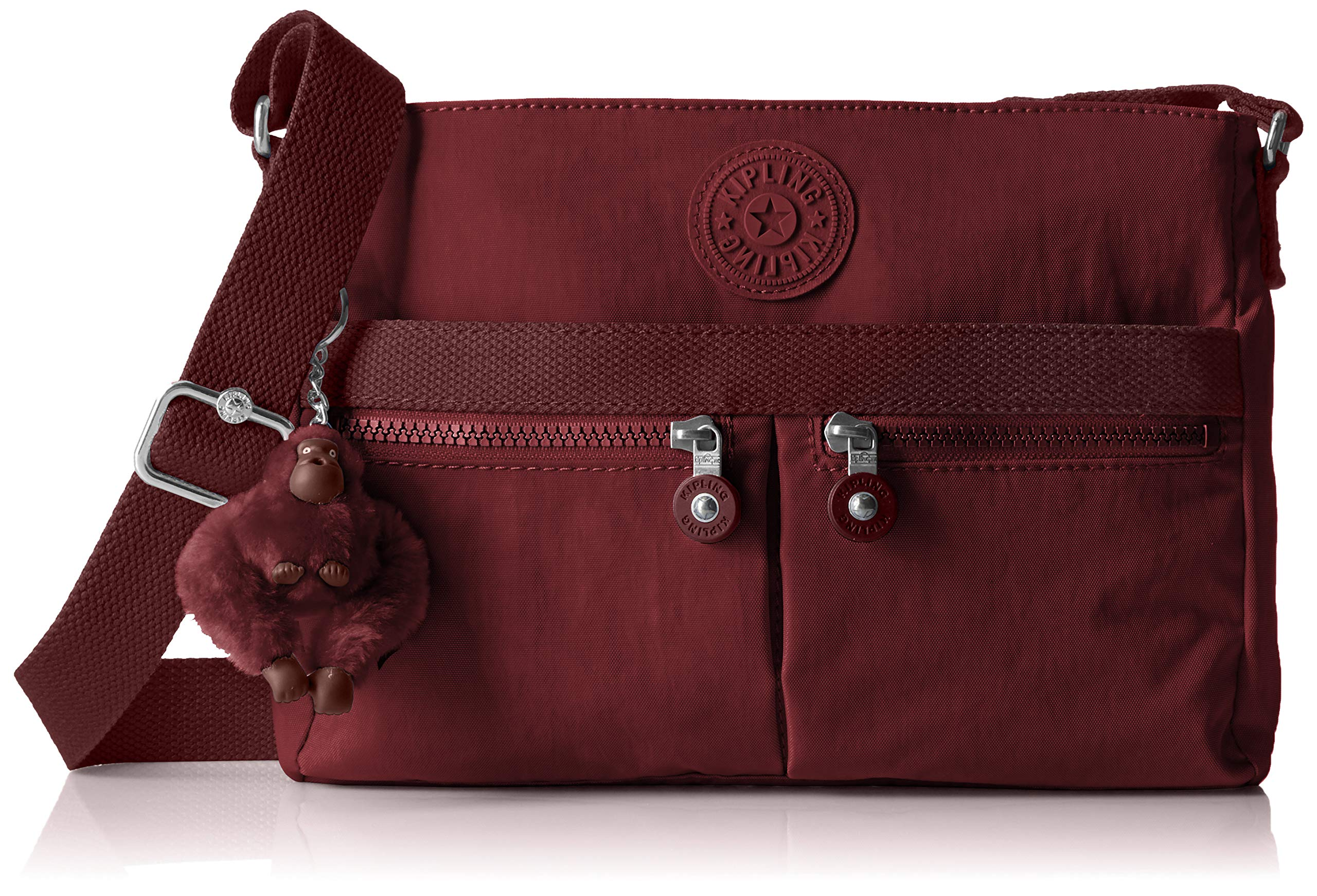 Kipling Women's Angie Solid Crossbody Bag, Brick Red