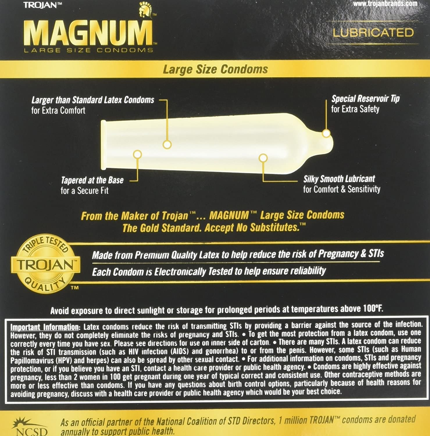 Amazon.com: Trojan Magnum Lubricated Latex Large Size Condoms ...