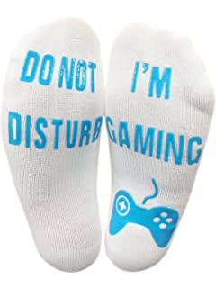 d774fe74abcc Vinsani 'Do Not Disturb, I'm Gaming' Funny Ankle Gamer Socks - Black ...