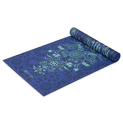 Gaiam -Estera de Yoga con Impresion Premium, Reversible, Color,