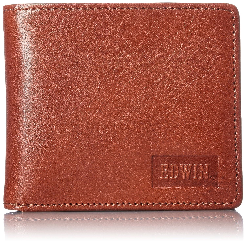 [エドウィン] 二つ折財布 イタリアンレザー エンボス 22219021 B01MQZS98D ダークオレンジ ダークオレンジ